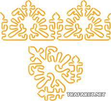 Витой бордюр и угол 2 (трафарет для росписи)