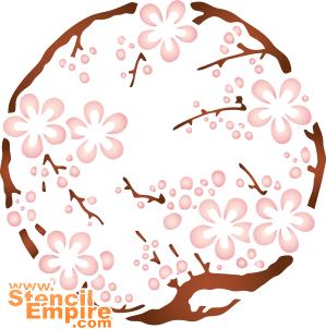 Медальон сакура (трафарет для росписи)