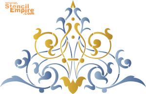 Кружевной мотив 1 (трафарет для росписи)