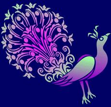 Кружевной павлин 1 (трафарет для росписи)