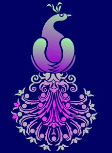 Кружевной павлин 2 (трафарет для декора)