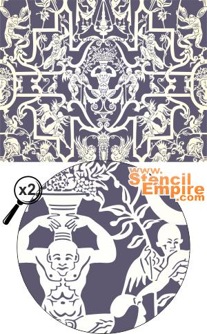 Панель гротеск (художественный трафарет)