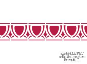 Трафарет Потолочный бордюр 33