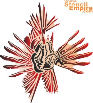 Рыба-лев 1 (трафарет для стен)