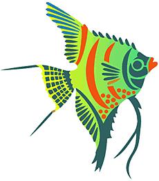 Рыба-ангел (трафарет для покраски)