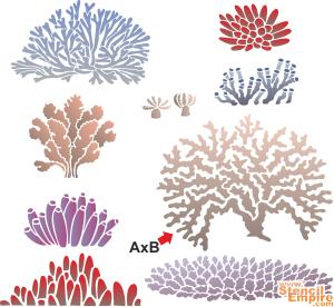 Кораллы 2 (трафарет для декора)