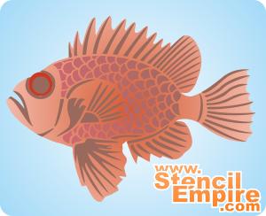 Морской окунь (трафарет для декора)