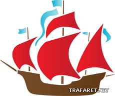 Кораблик 04 (трафарет для росписи)