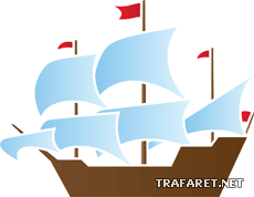 Кораблик 05 (трафарет для декора)