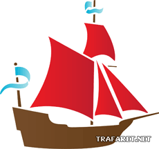 Кораблик 06 (трафарет для покраски)