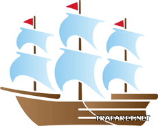 Кораблик 07 (трафарет для стен)