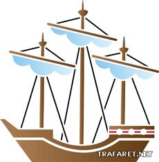 Кораблик 10 (трафарет для росписи)