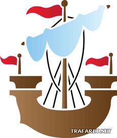 Кораблик 11 (трафарет для декора)