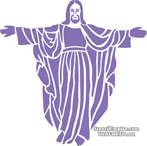 Исус (художественный трафарет)