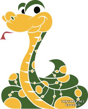 Маленькая змея 01 (трафарет для росписи)