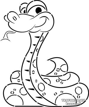 Маленькая змея 02 (трафарет для декора)