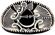 Сомбреро (трафарет для рисования)