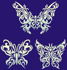 Бабочки тату 02 (трафарет для покраски)