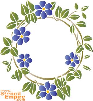Венок из цветов (трафарет для покраски)