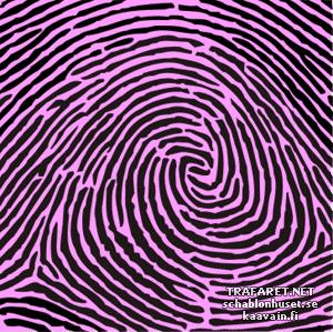 Трафарет Отпечаток пальца