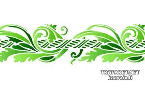 Шнур и листья (трафарет для стен)