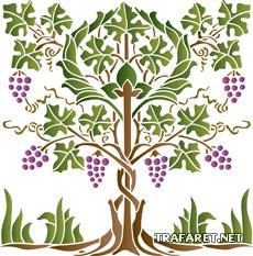 Виноградное дерево (трафарет для декора)