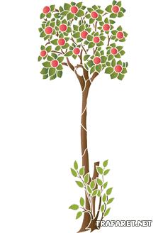 Яблоня (трафарет для декора)
