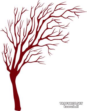 Осеннее дерево (трафарет для декора)