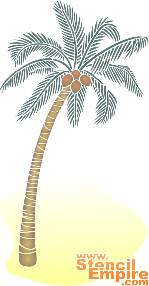 Пальма 2 (художественный трафарет)