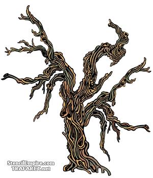 Трафарет для декора Расщепленное дерево