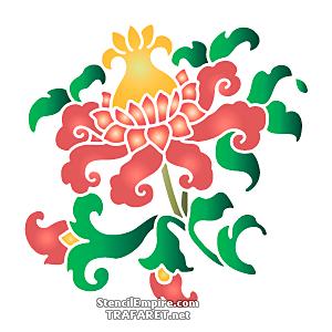 Восточный цветок с бутонами