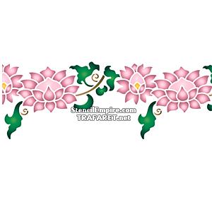 Ветка с хризантемами В