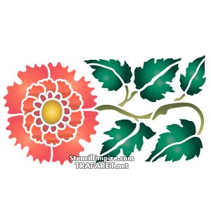 Красная китайская хризантема А