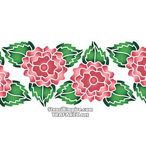 Трафарет Цветок махровой розы 2В