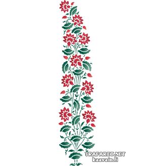 расные лилии 03б (трафарет для декора)