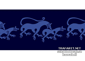 Трафарет-бордюр Животные викингов