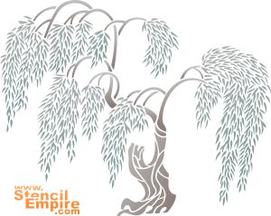 Плакучая ива (художественный трафарет)