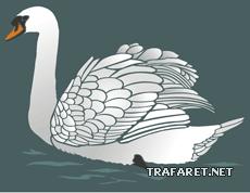 Лебедь 2 (трафарет для покраски)