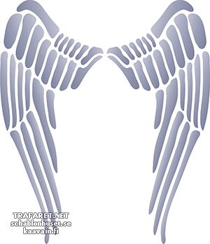 Трафарет Крылья ангела 02