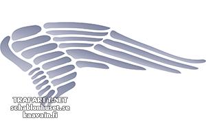 Трафарет Крыло ангела 02