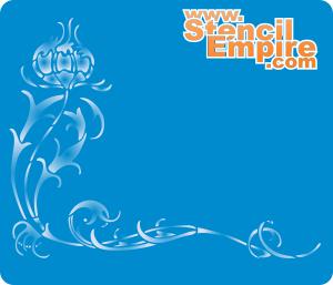 Сказочный цветок (трафарет для рисования)