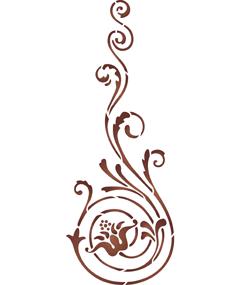 Спиральный цветок (художественный трафарет)