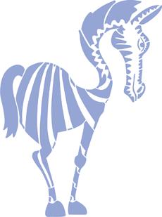 Стильная зебра (трафарет для декора)
