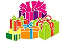 Подарки (трафарет, малая картинка)