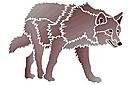 Степной волк (трафарет, малая картинка)