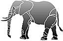 Слон (трафарет, малая картинка)