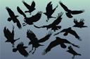 13 воронов (трафарет, малая картинка)