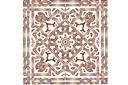 Панно арабеска (трафарет, малая картинка)