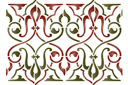 Бордюр арабеска 24 (трафарет, малая картинка)