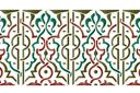 Бордюр арабеска 25 (трафарет, малая картинка)